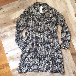 Theory silk topper shirt dress perfect